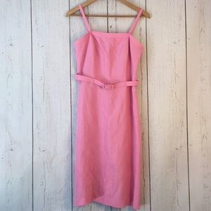 Casual Corner strapless or with straps linen dress
